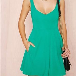Nasty Gal Green dress XS.